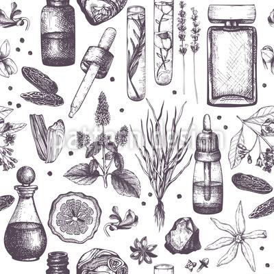 Parfümerielabor Nahtloses Vektormuster