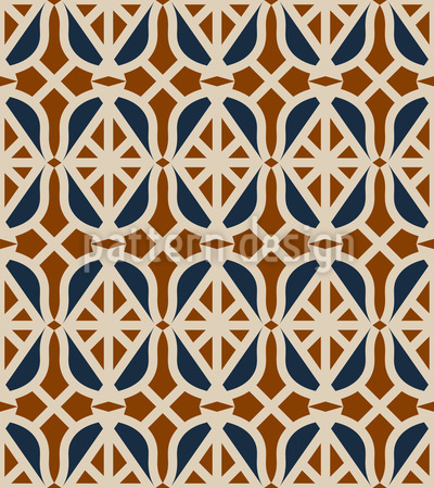 Art-Deco-Rauten Rapportiertes Design