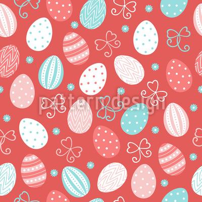 Voando ovos de Páscoa Design de padrão vetorial sem costura