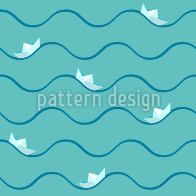 Papierschiffchen Auf Hoher See Musterdesign
