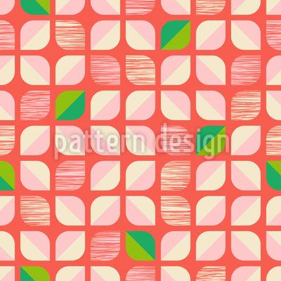 Abstrakte Retro-Blumen Rapportiertes Design