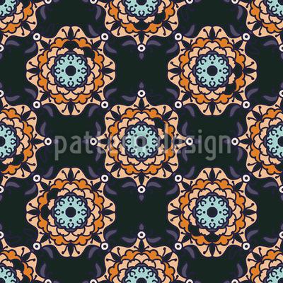 Ethno-Augen Muster Design