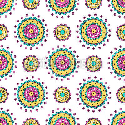 Doodle-Mandalas Designmuster