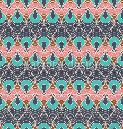 Gereihte Pfauenaugen Muster Design