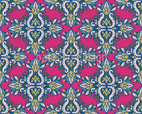 Symmetrischer Blumenstrauß Muster Design