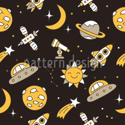Mysteriöser Weltraum Nahtloses Muster