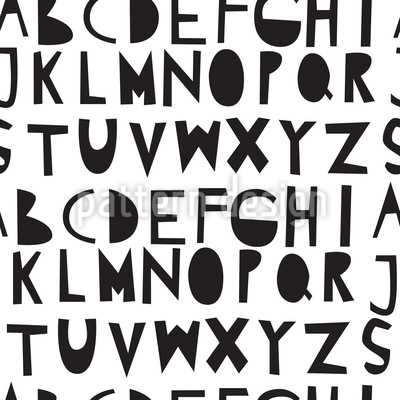 Alphabet Stencil Seamless Vector Pattern Design