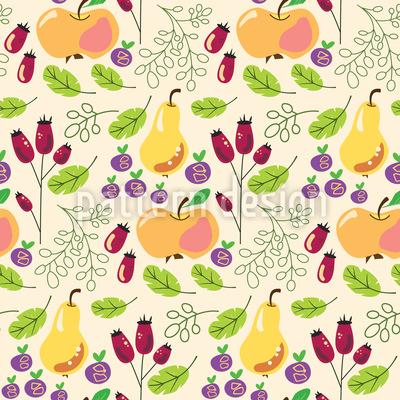 Canção Fruta Design de padrão vetorial sem costura