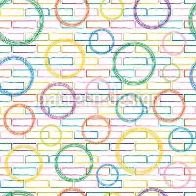 Ziegel und Kreise Vektor Design