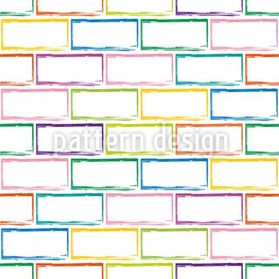 Brick Wall Seamless Vector Pattern Design