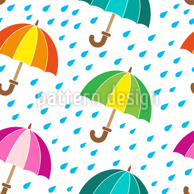 Niedliche Regenschirme Vektor Ornament
