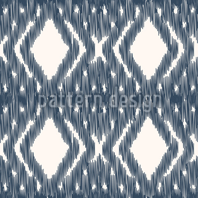 Ikat Diamond Weave Design de padrão vetorial sem costura
