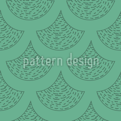 Drawn Mermaid Scales Pattern Design