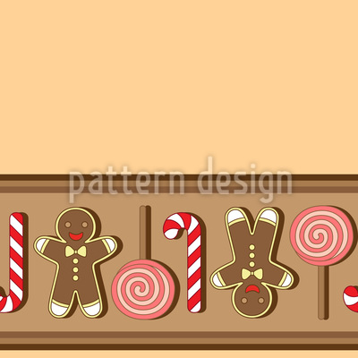Christmas Sweets Stripes Seamless Vector Pattern Design