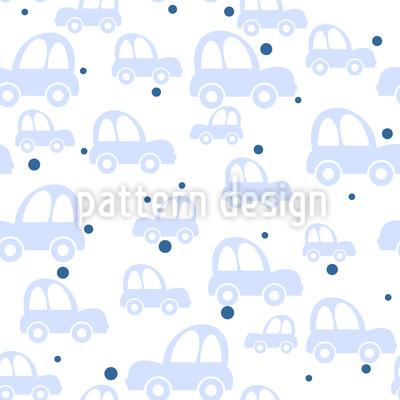 Cute Cars Vector Pattern