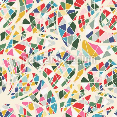 Color Distribution Seamless Vector Pattern Design