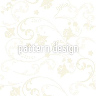 Ecru Floral Repeat Pattern