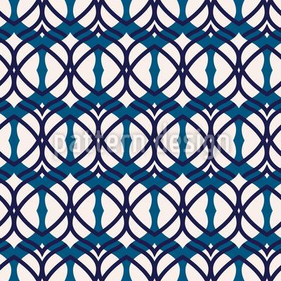 Abgerundete Formen in einem Netz Muster Design