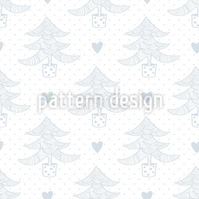 Weihnachtsbäume und Herzen Nahtloses Muster