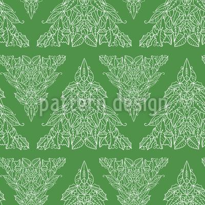Unser Weihnachtsbaum Nahtloses Vektor Muster