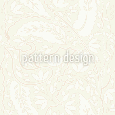 Blätter Und Blumen Paisley Nahtloses Vektormuster