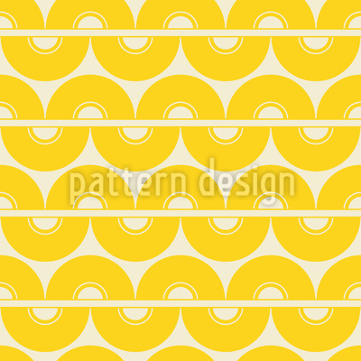 Zitronen Sechziger Rapportiertes Design