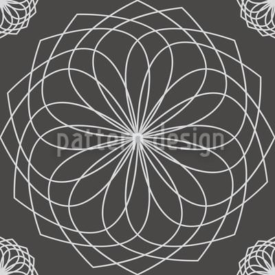 Flor de Spirella Design de padrão vetorial sem costura