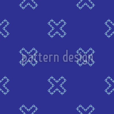 Überkreuz Nahtloses Vektor Muster