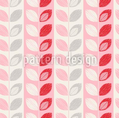 Blätter In Einer Zeile Vektor Muster