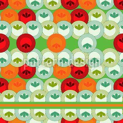 Kreise Inkognito mit Streifen Vektor Muster