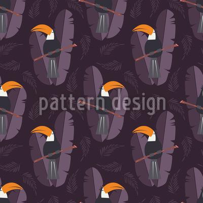 Tukan in der Nacht Designmuster