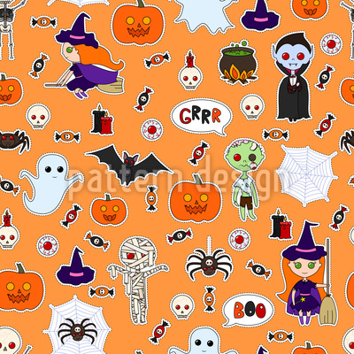 Halloween Costumes Vector Ornament