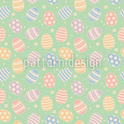 Rollende Ostereier Nahtloses Vektor Muster