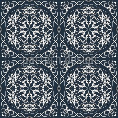 Symmetrische Schönheit Vektor Muster