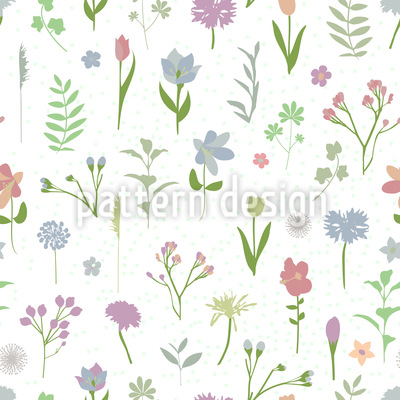 spring flower drawings design pattern