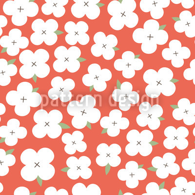 Cherryblossom Sea Seamless Vector Pattern