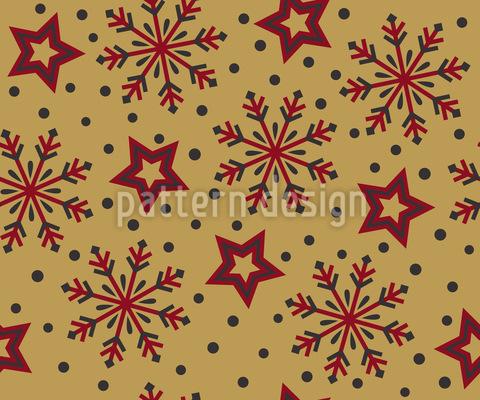 Winter Sternengucken Nahtloses Vektor Muster