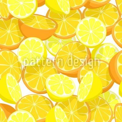 Zitrusfrucht Über Zitrusfrucht Nahtloses Muster