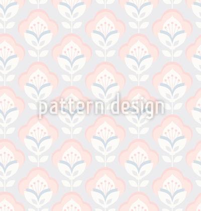 Retro-Blüte Designmuster