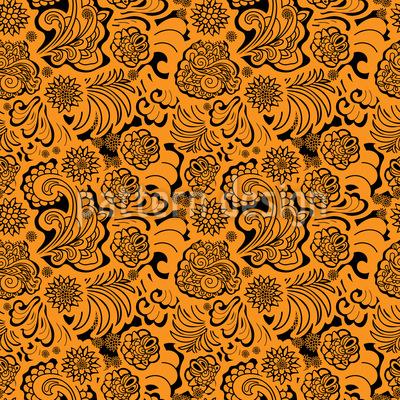 Orientalische Flora Rapportiertes Design