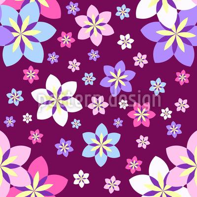 Geometrische Streublumen Designmuster