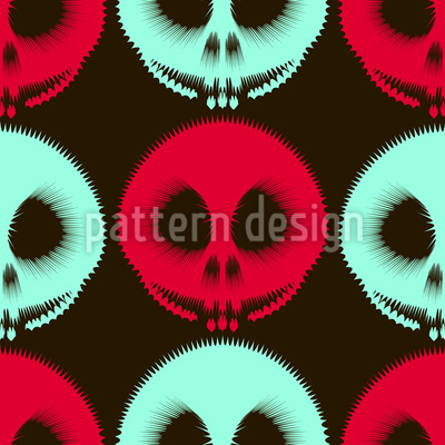 Tunnel Of Horror Seamless Vector Pattern