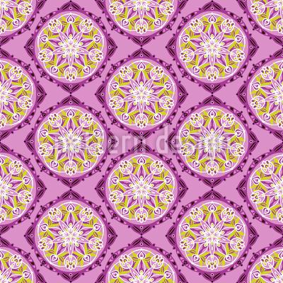 Kunstvolle florale Rundungen Vektor Design