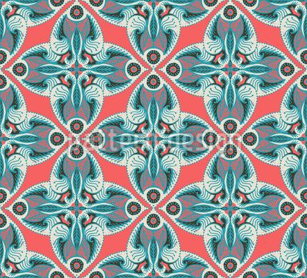Verzierte Fantasy Blüten Muster Design