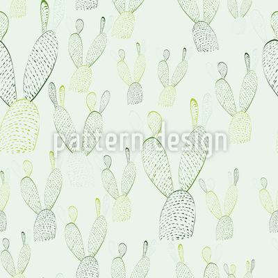 Hasenohren Nopal Kaktus Nahtloses Vektormuster