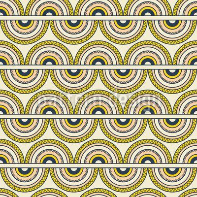 Halb verzierte Kreise Nahtloses Vektor Muster