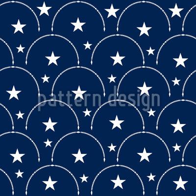 Himmel Mit Sternen Nahtloses Muster
