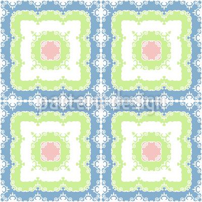 Quadrate Mit Verzierung Muster Design