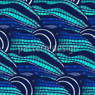 Kunstvolle Welle Rapportiertes Design