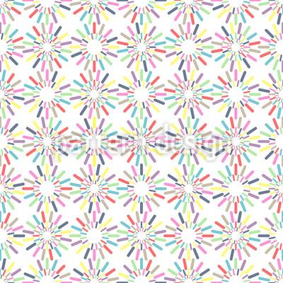 Bunte Streusel-Kreise Vektor Muster